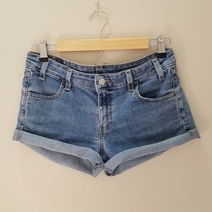 Levi's Stretch Denim High Waist Jean Shorts